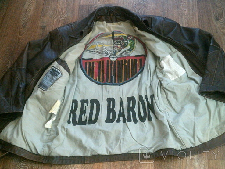 Red Baron pilot - фирменная кожаная куртка, фото №2