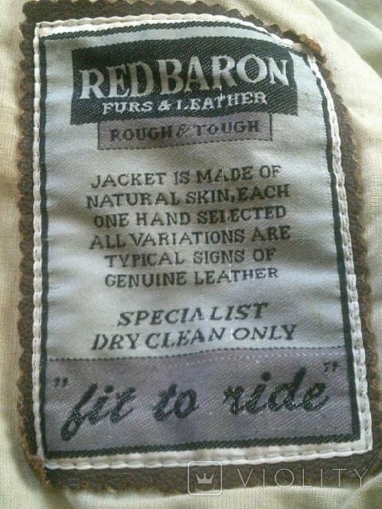 Red Baron pilot - фирменная кожаная куртка, фото №5