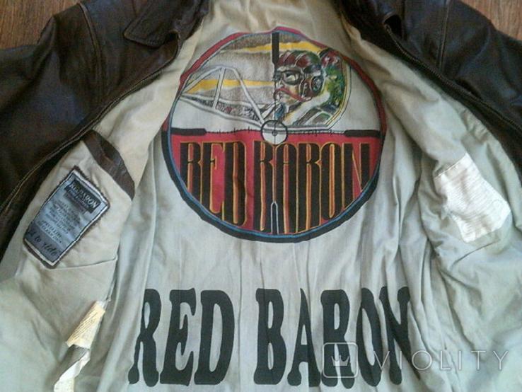 Red Baron pilot - фирменная кожаная куртка, фото №7
