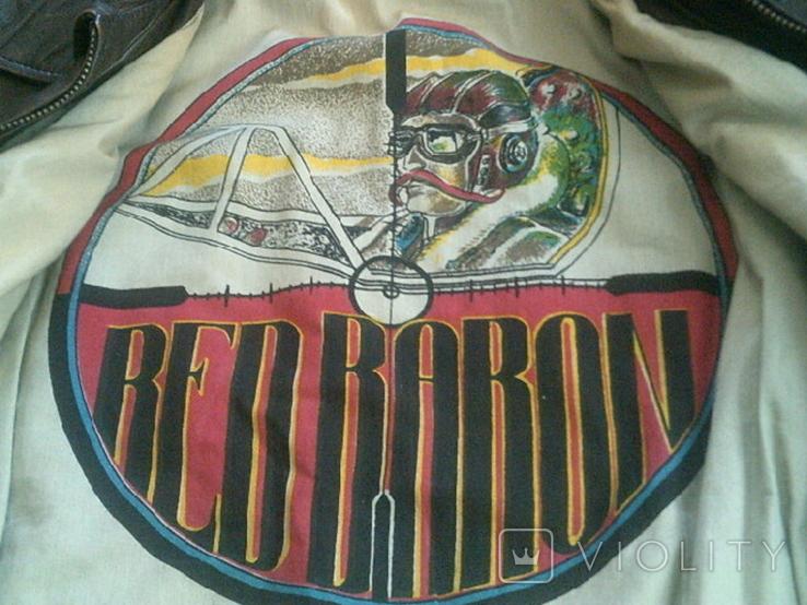 Red Baron pilot - фирменная кожаная куртка, фото №9