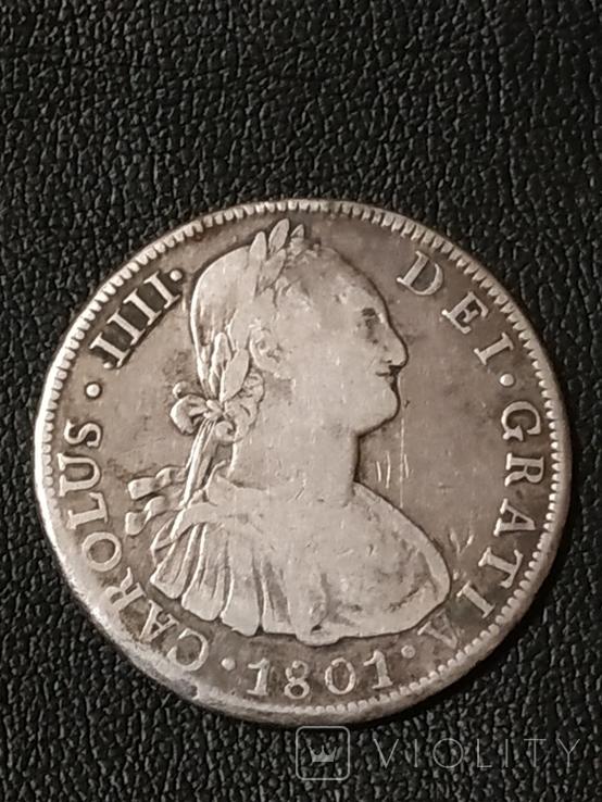 8 реалов Боливия 1801 г., фото №2