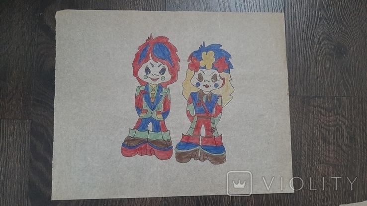 Рисунок на кальке лист дембельского альбома хиппи мир