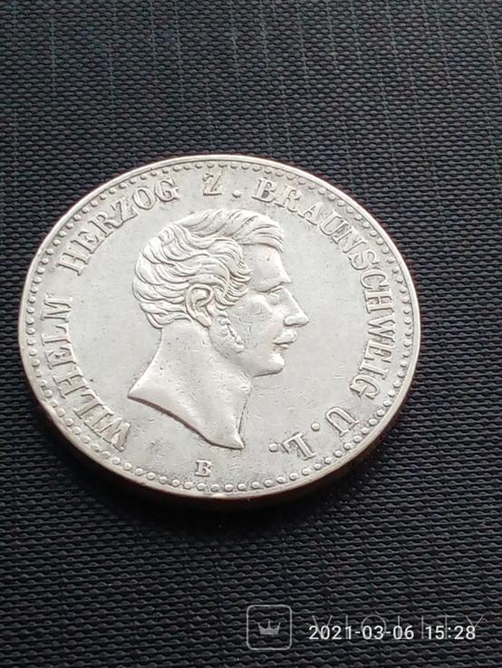 Таляр Брауншвейга 1851 р.(рідкісний), фото №2