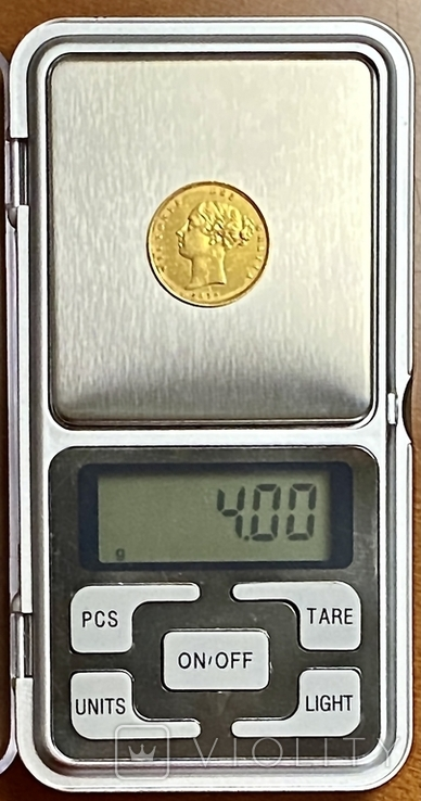 1/2 соверена. 1878. Виктория. Великобритания (золото 917, вес 4,00 г), фото №7