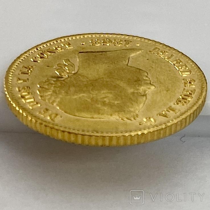 4 песо. 1868. Изабелла II. Филиппины (золото 875, вес 6,71 г), фото №7