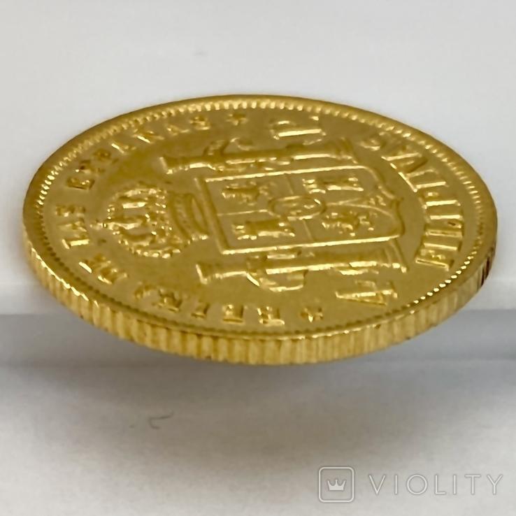 4 песо. 1868. Изабелла II. Филиппины (золото 875, вес 6,71 г), фото №10
