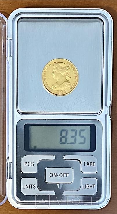 100 реалов. 1862. Изабелла II. Испания (золото 900, вес 8,35г), фото №13