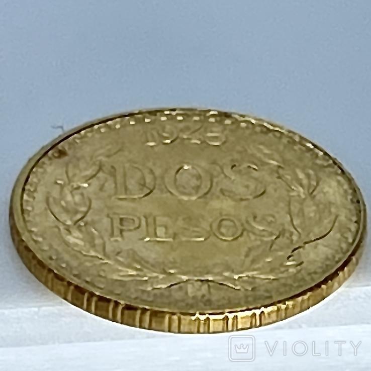2 песо. 1945. Мексика (золото 900, вес 1,68 г), фото №11