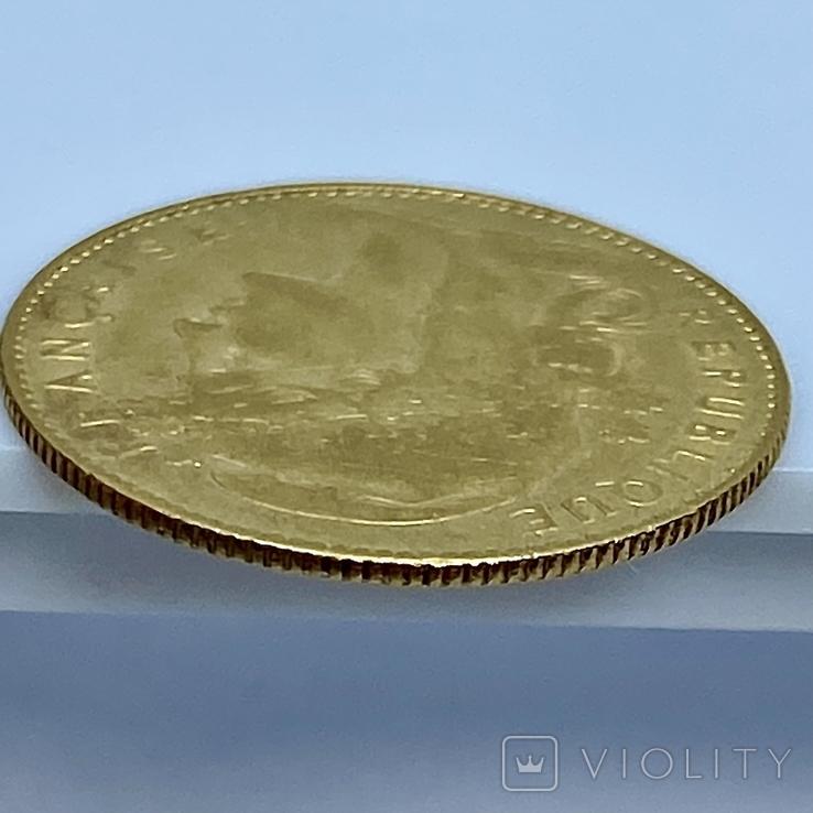 """10 франков. 1900. """"Петух"""" Франция (золото 900, вес 3,23 г), фото №12"""