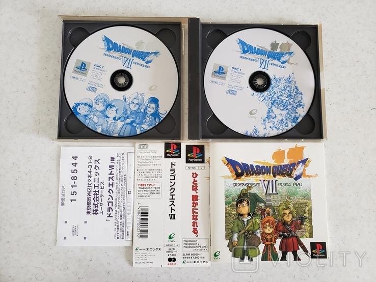 Dragon Quest VII (PS1, NTSC-J)2 discs OBI+POST CART, фото №3