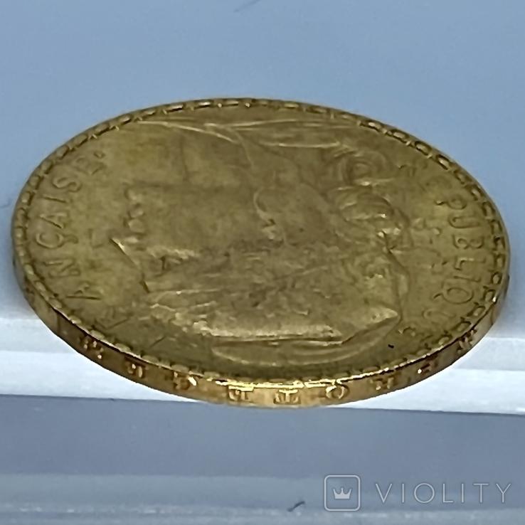 20 франков. 1906. Петух. Франция (золото 900, вес 6,46 г), фото №11