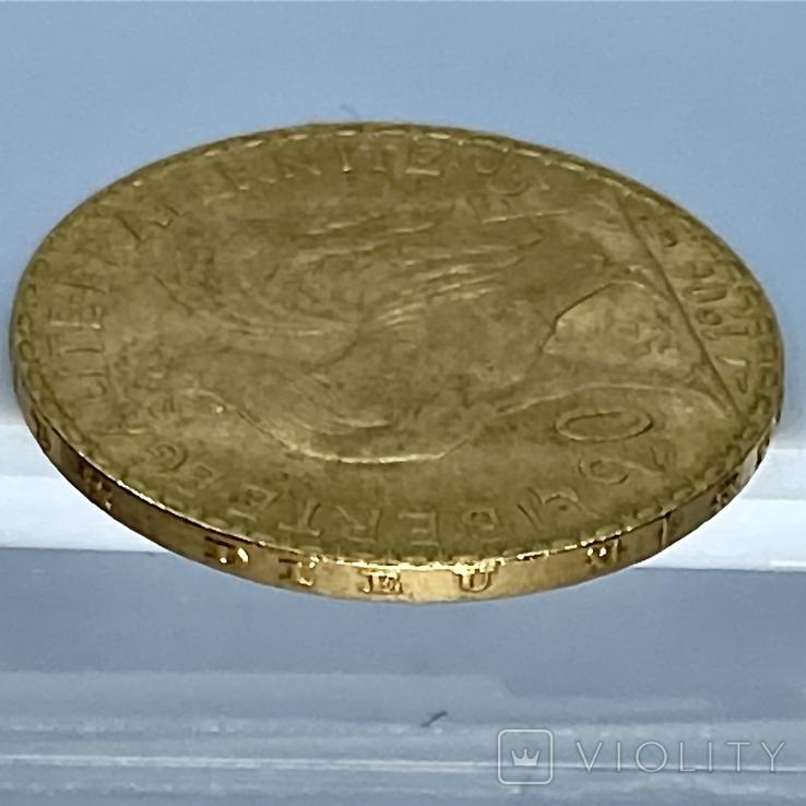 20 франков. 1906. Петух. Франция (золото 900, вес 6,46 г), фото №13