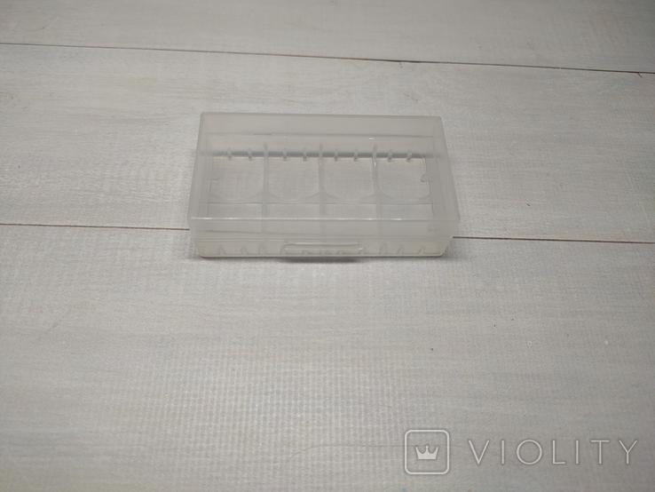 Коробка, бокс, футляр, кейс, для аккумуляторов 18650 прозрачный