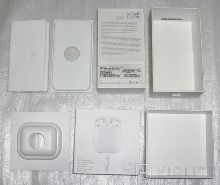 IPhone 4S + AirPods коробки Оригинал, фото №6