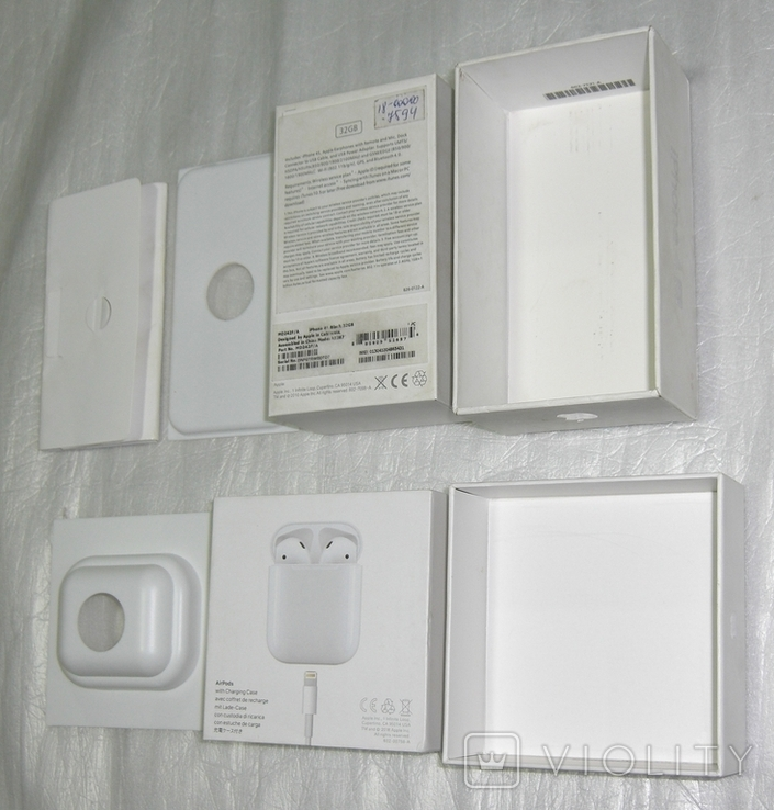 IPhone 4S + AirPods коробки Оригинал, фото №7