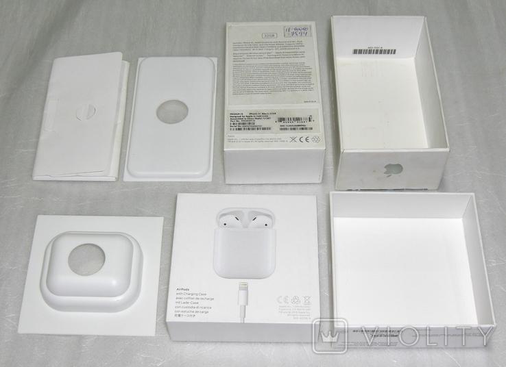 IPhone 4S + AirPods коробки Оригинал, фото №9