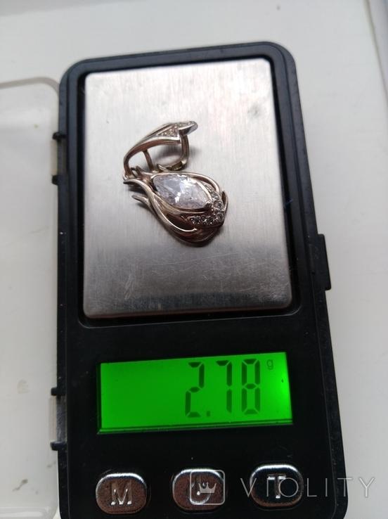 Кулон серебро 925 проба, фото №3