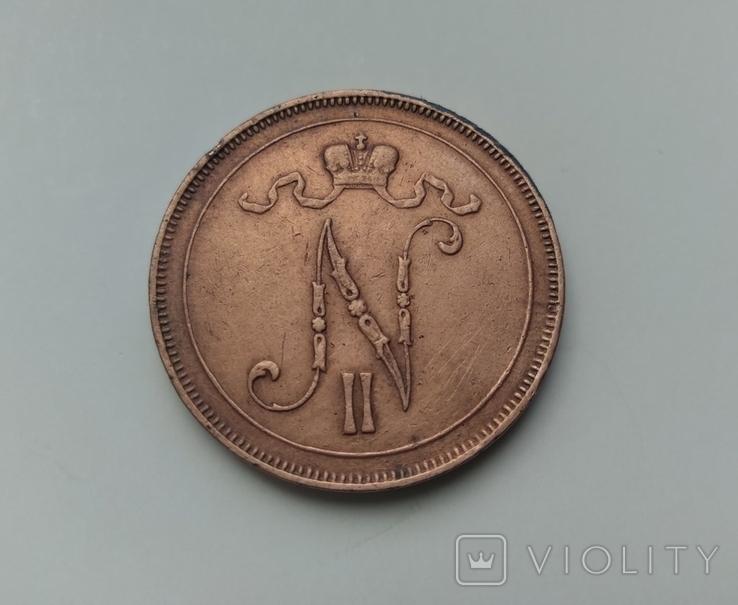 10 пенні 1914 Фінляндія, фото №3