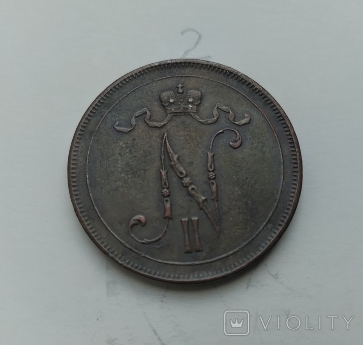 10 пенні 1916 Фінляндія, фото №3