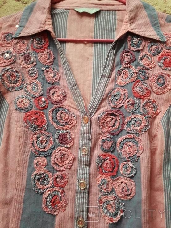 Женская вышитая рубаха Peruna. Индия. Ручная работа, фото №3