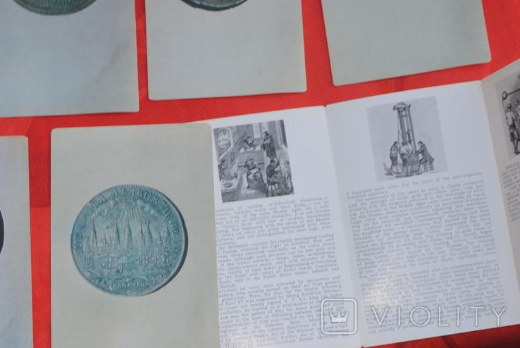 Набор открыток Города Европы на монетах 16-18 веков 16 шт 1973 г, фото №7