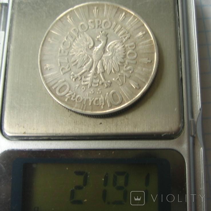 Польша 10 злотых, 1935, фото №2