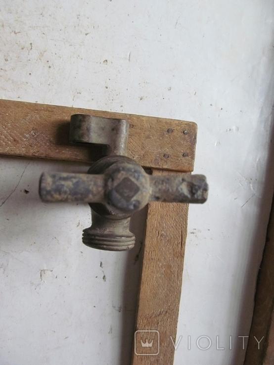 Античный латунный двойной смеситель, фото №6