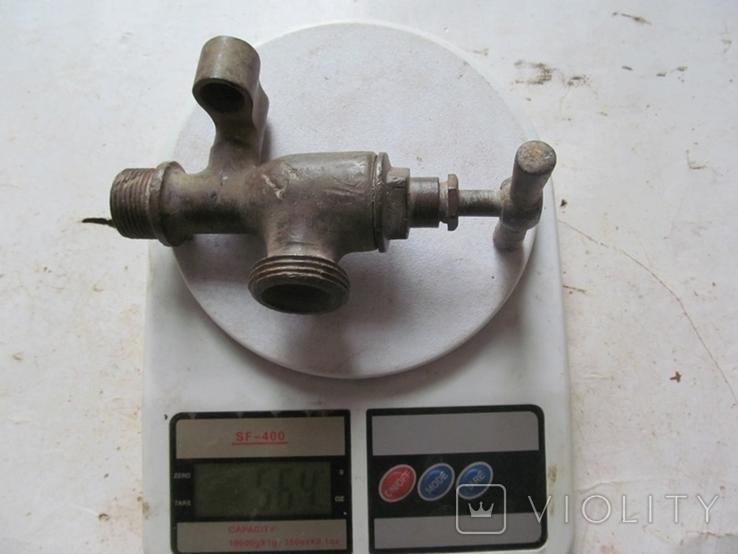Античный латунный двойной смеситель, фото №8
