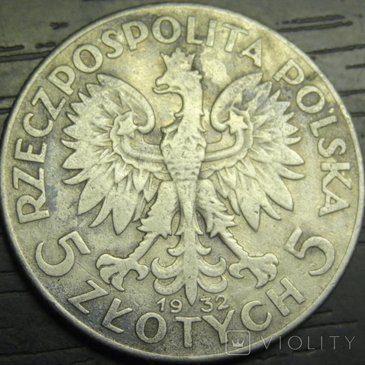 5 злотих Польща 1932 срібло, фото №3