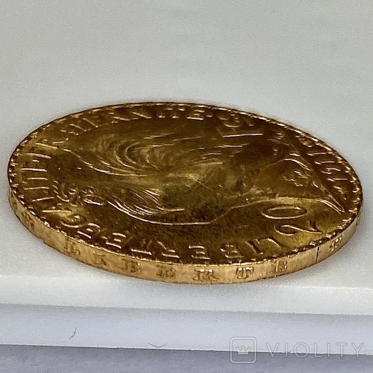 20 франков. 1911. Петух. Франция (золото 900, вес 6,47 г), фото №10