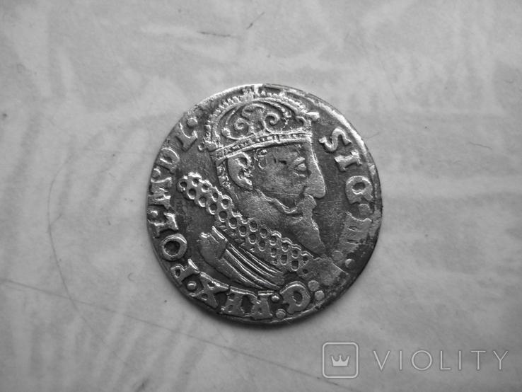 Трояк Сигизмунда 1622г, фото №2