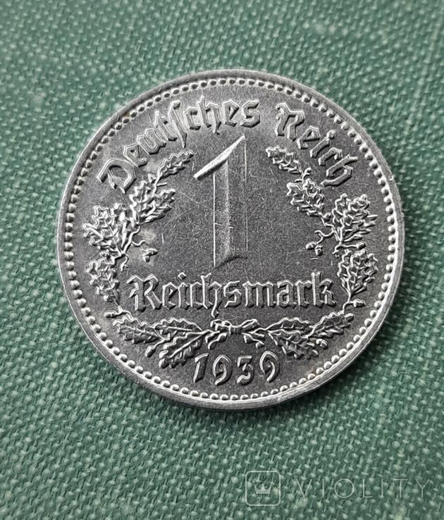 1 рейхсмарка 1939 Германия / Третий рейх буква В, фото №2