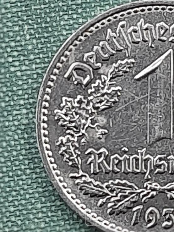 1 рейхсмарка 1939 Германия / Третий рейх буква В, фото №8
