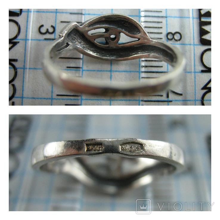 Серебряное Кольцо Камень Размер 16.0 Молитва Господи Спаси и сохрани 925 проба Серебро 692, фото №5