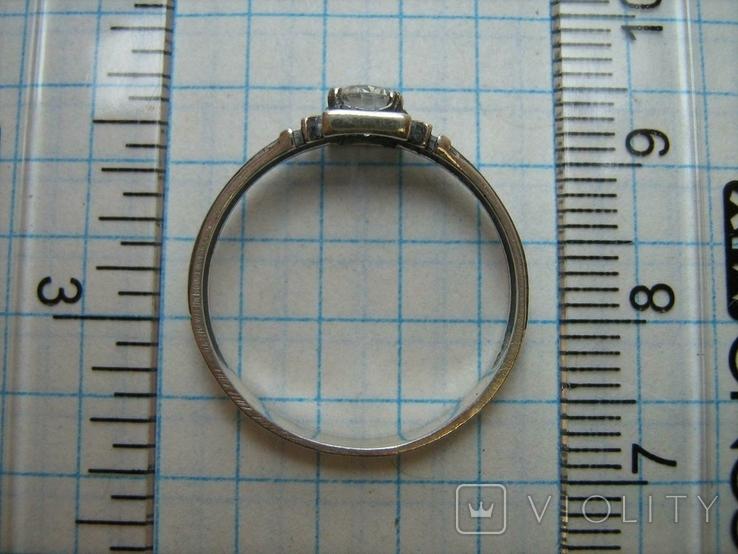 Новое Серебряное Кольцо Размер 18.25 Молитва Камень 925 проба Серебро Православное 587, фото №5
