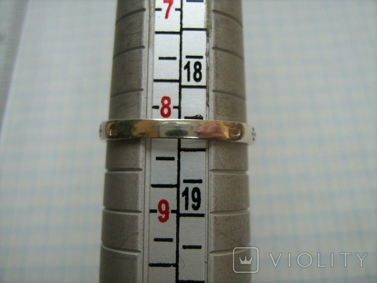 Новое Серебряное Кольцо Размер 18.25 Молитва Камень 925 проба Серебро Православное 587, фото №7