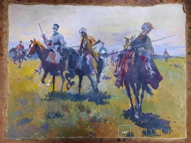 Картина Казаки. Копия, фото №4
