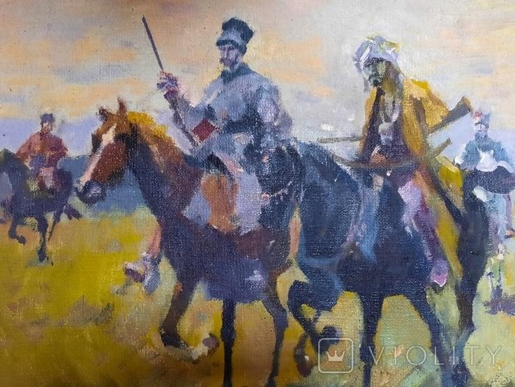 Картина Казаки. Копия, фото №5