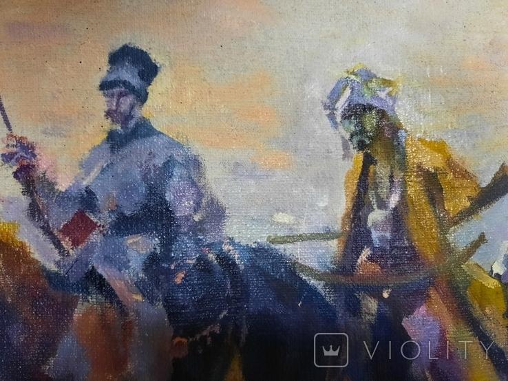 Картина Казаки. Копия, фото №6