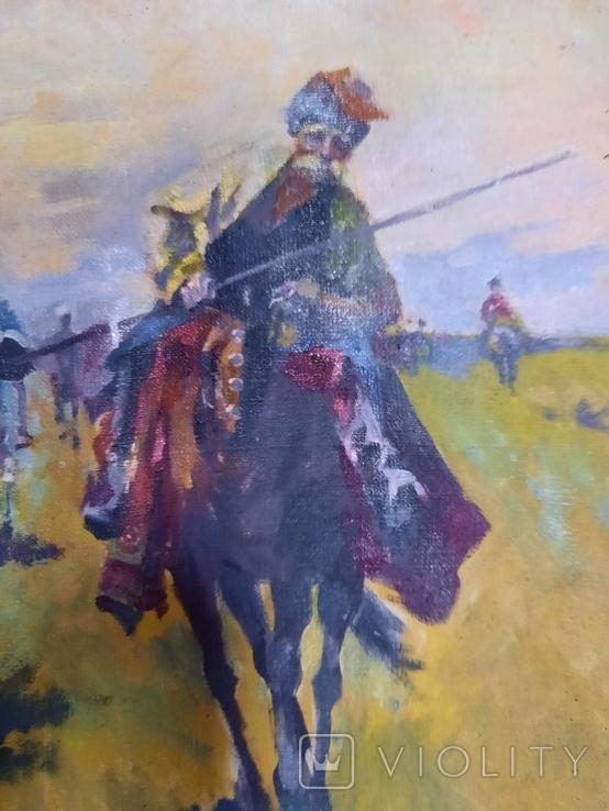 Картина Казаки. Копия, фото №7