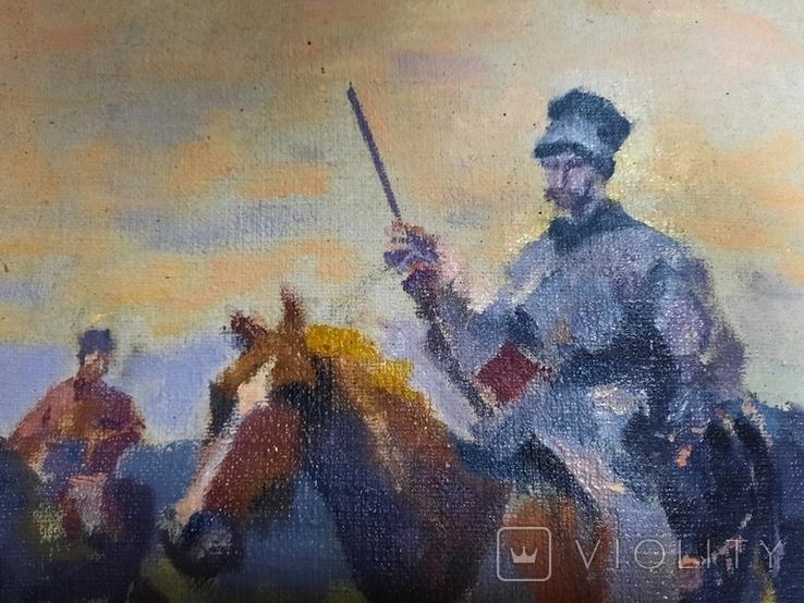 Картина Казаки. Копия, фото №9