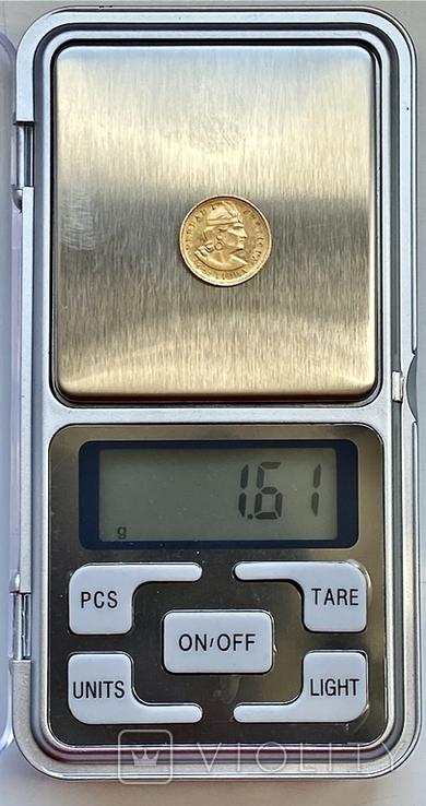 1/5 либры. 1906. Перу (золото 917, вес 1,61 г), фото №11