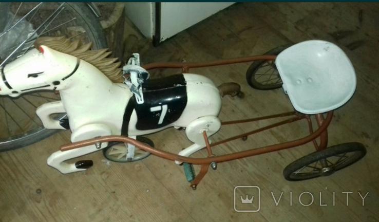 Конь педальный, фото №6