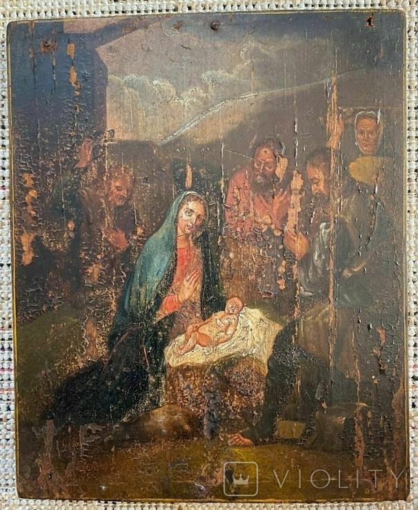 """Икона """"Рождество Христово"""", фото №2"""