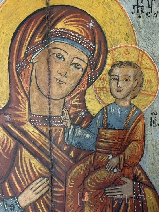 Икона Богородица и Иисус Христос, фото №3
