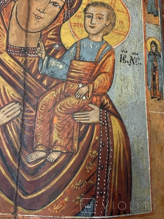 Икона Богородица и Иисус Христос, фото №5