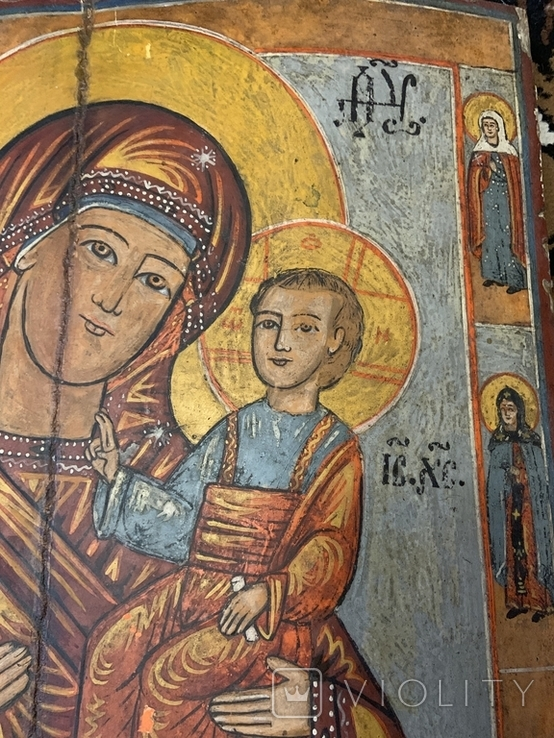 Икона Богородица и Иисус Христос, фото №7