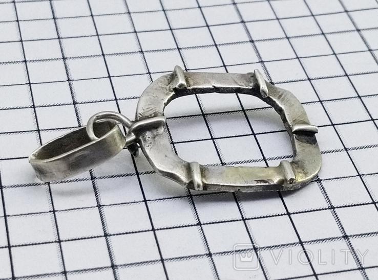 Кулон - подвеска серебро 800 проба, 2.60 грамм, фото №3