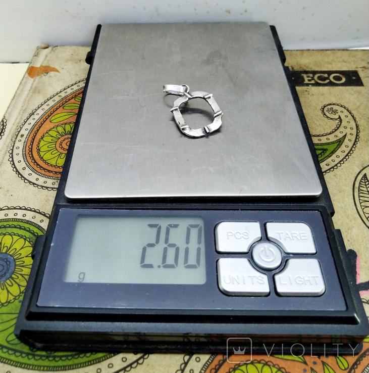 Кулон - подвеска серебро 800 проба, 2.60 грамм, фото №4