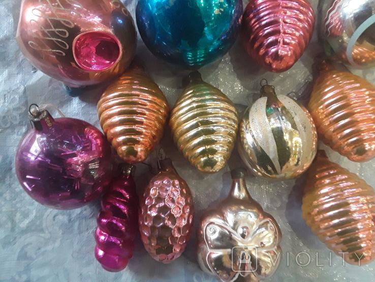 Новогодние игрушки на елку-17 штук (СССР), фото №3